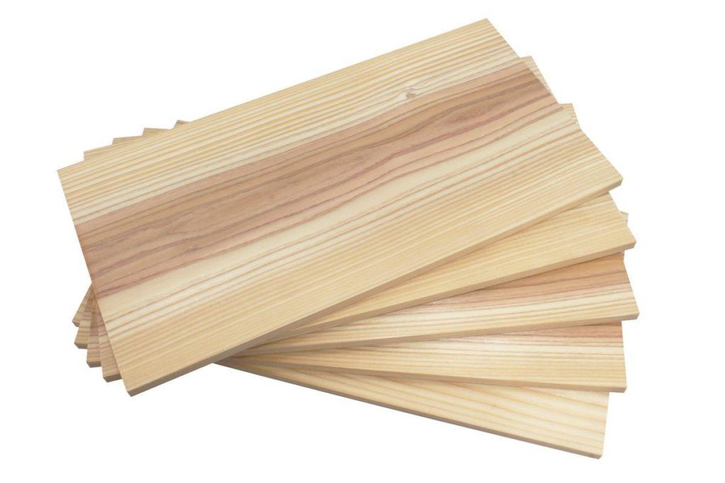 京都産杉板のBBQプランク